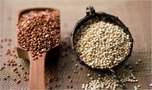hnědá a bílá Quinoa