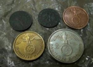 Mince nalezené na místě