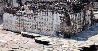 Tzompantli jako obraz krutého mexického kultu
